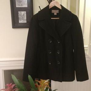 Michael Kors 🖤 GUC Black Wool Pea Coat